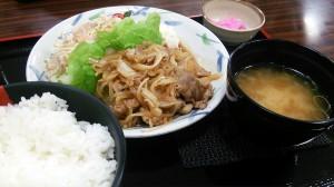 美濃ヘルシーポークの生姜焼き定食