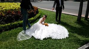 ウエディングドレス撮影