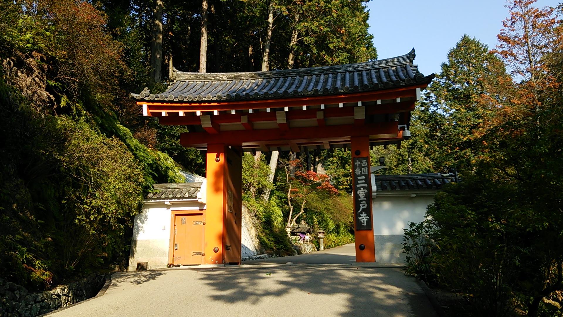 三室戸寺の早めの紅葉