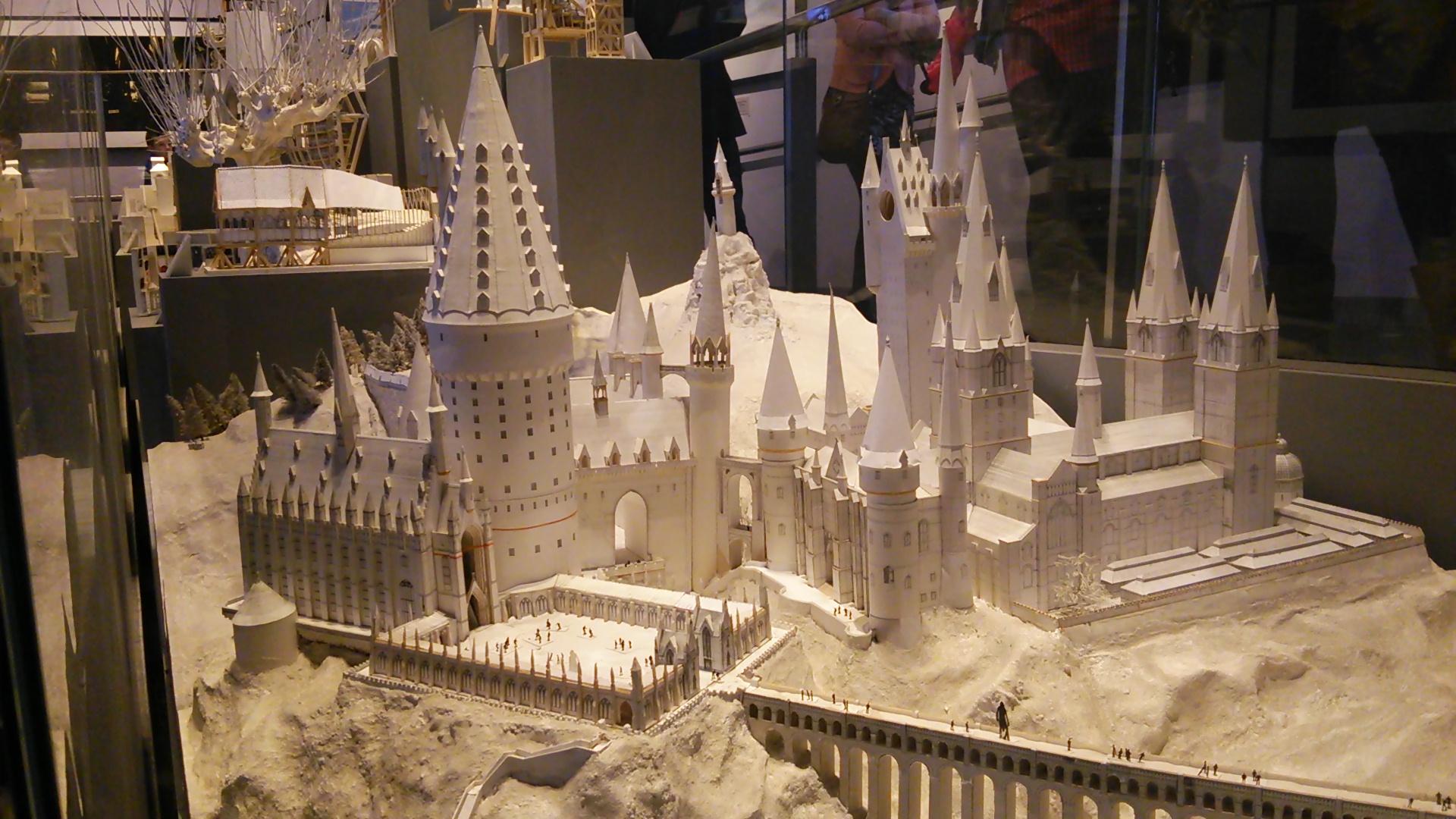 ホグワーツの建物と模型
