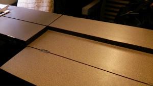 ユーロスター内のテーブル