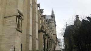 ノートルダム大聖堂側面