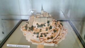 モンサンミッシェルの模型