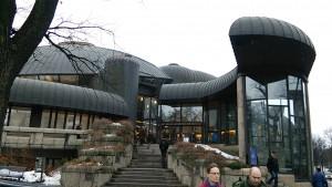 タンペレ市立図書館入口
