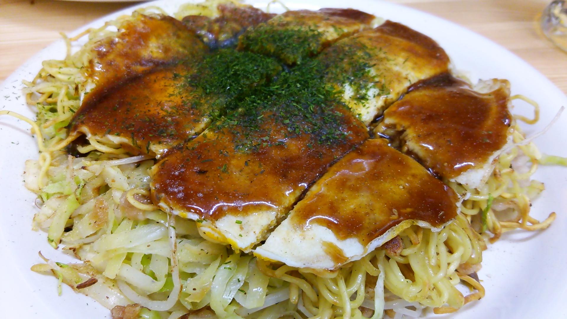 加賀屋で広島のお好み焼き!