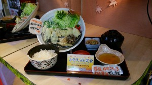 かき天ぷら定食